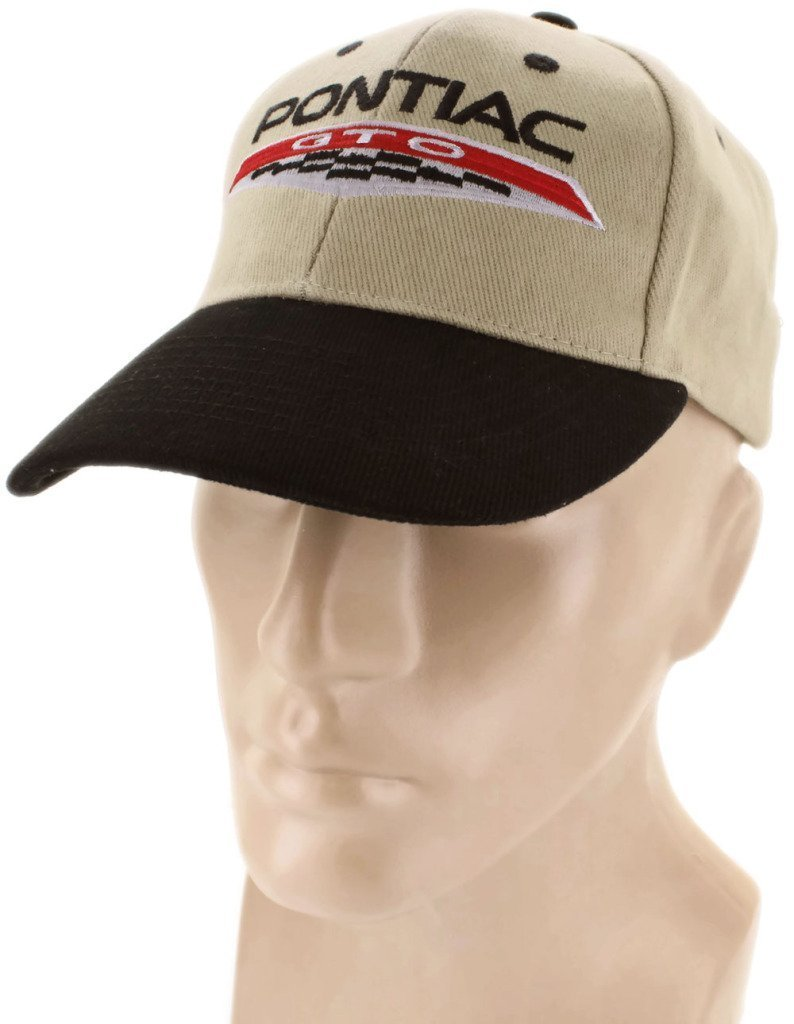 Pontiac GTO Black Khaki Baseball Cap Trucker Hat Snapback 6.0 Liter Bobcat Judge DanteGTS