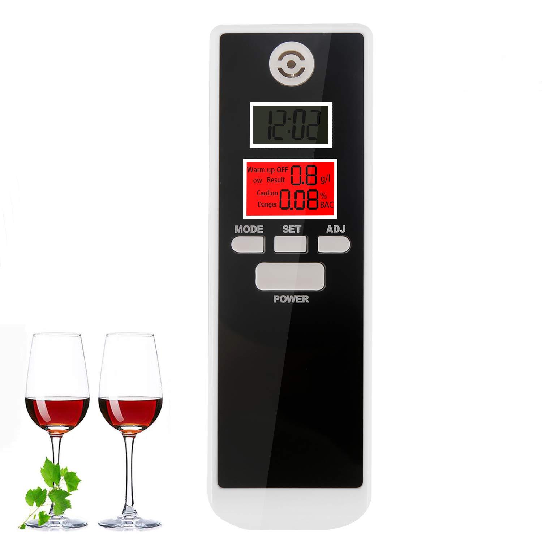 bedee Alkoholtester Digital Alkohol Tester mit LCD Display Alkoholtest Test Analyzer Detector Anzeige Promilletester Alkoholmessgerä t mit Deutsches Handbuch
