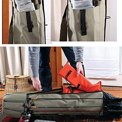 Lzndeal Profesional de lona gruesa Pesca Rod & Reel Organizador de viaje llevar bolsa de la caja