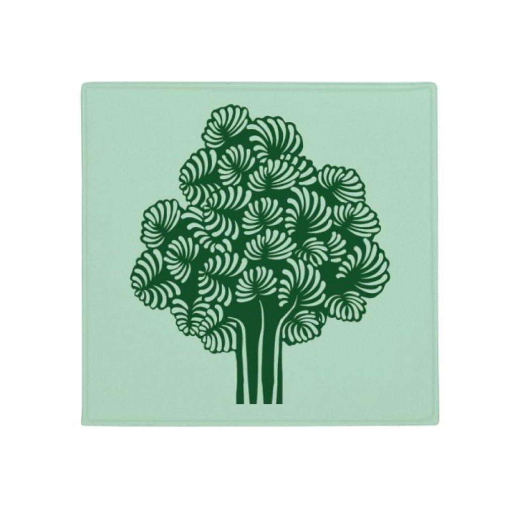 DIYthinker Plants Flowers Trees Leaves Anti-Slip Floor Pet Mat Square Home Kitchen Door 80Cm Gift