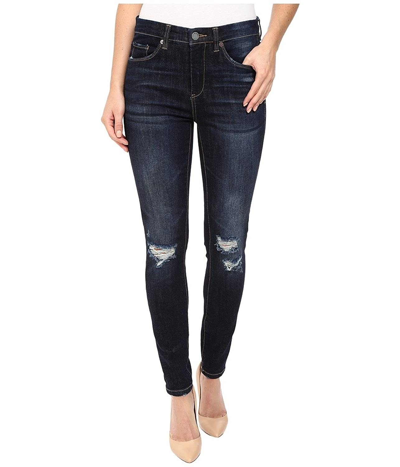 Blank NYC Women's Mid-Rise Distressed Blue Skinny in