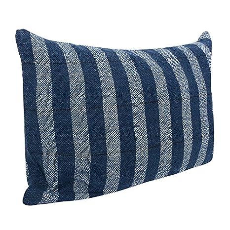 Cala Living Funda Cojín Lana algodón de Rayas Azules 60X40 ...