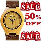 Wood Watch - Wrist Wooden Watch For Men and Women - Lightweight Mens Watches Analog Quartz - Watch Men