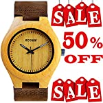 Wood Watch – Wrist Wooden Watch For Men and Women – Lightweight Mens Watches Analog Quartz – Watch Men