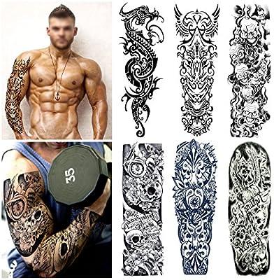 Arte Corporal Brazos Completos tatuajes temporales Falsos, Konsait ...