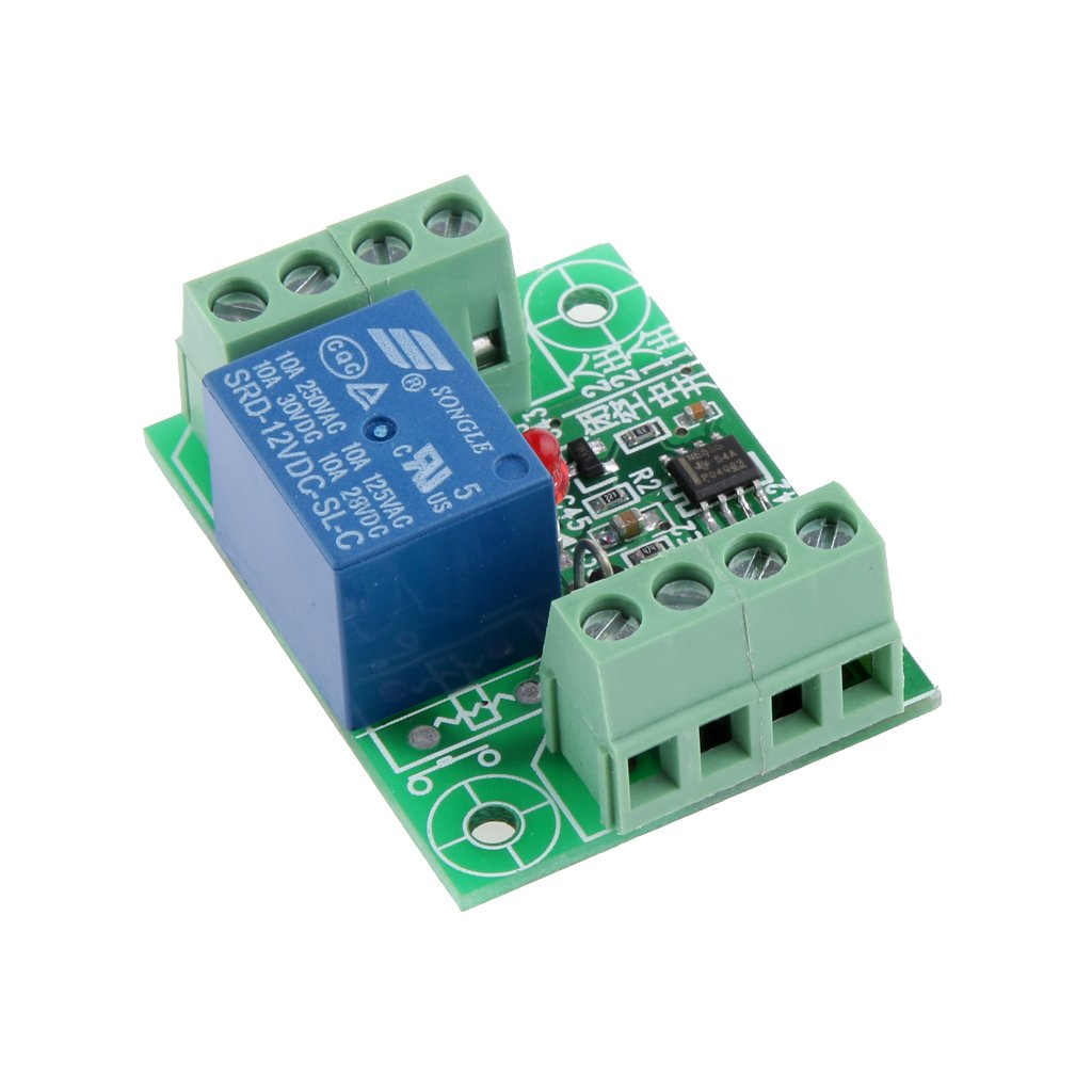 Relé Electrónico de Control de Conmutación Módulo de Circuito Biestable de Disparo de Acción En DC12v Generic STK0152002489