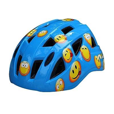 Cartoon Smile Face Roller/vélo/skateboard Casque (Bleu)