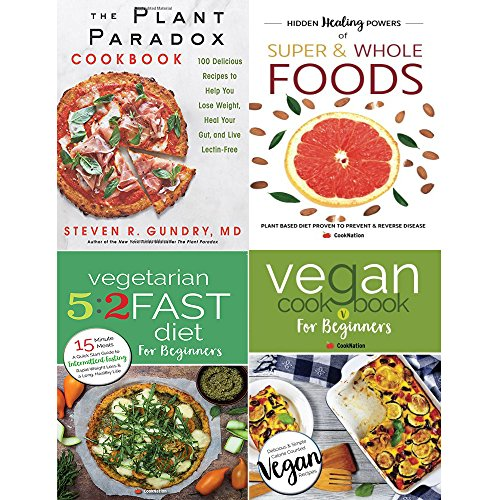 Book cover from Plant paradox cookbook [hardcover], hidden healing powers, vegetarian 5 2 fast diet and vegan cookbook 4 books collection set by Dr. Steven R Gundry M.D.