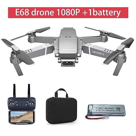 E68 - Mando a distancia actualizado, dron gran angular 4 K 720P ...