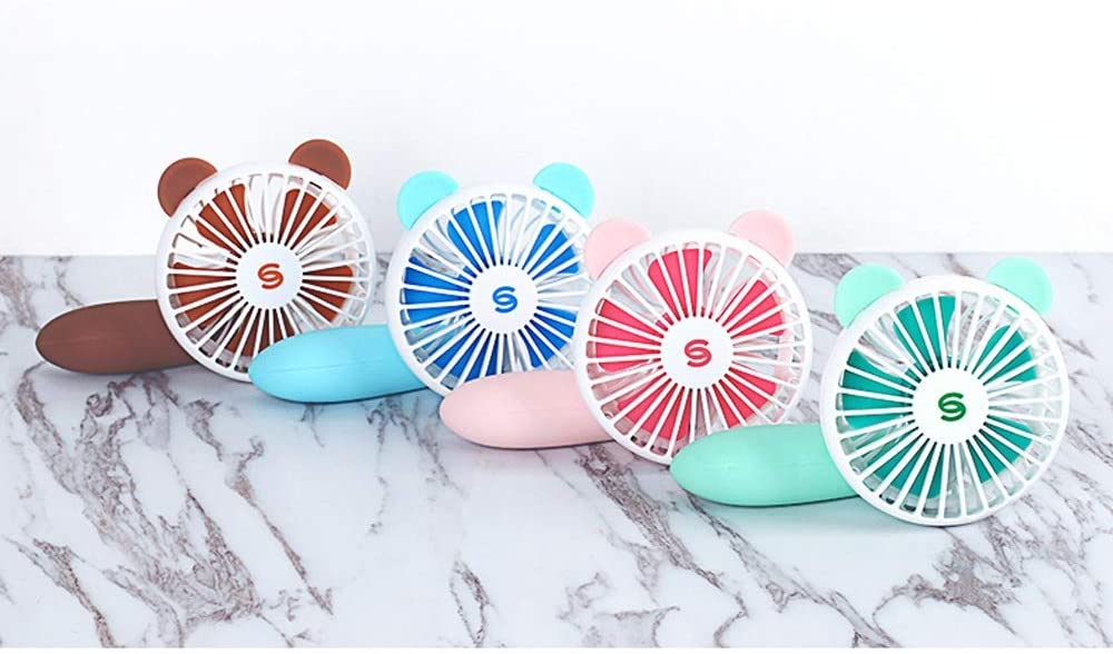 3 Speeds Operation Convenient Mini USB Small Fan Personal Quiet Mini Rotatable Portable Electric Cooling USB Handheld Fan Color : Green, Size : One Size