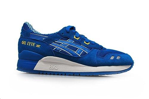ASICS Gel Lyte III Shoes Mid Blue CMYK: Amazon.co.uk: Shoes