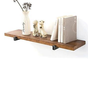 Retro solid holz wand rack creative bücherregal hintergrund hängeschrank wohnzimmer deko rahmen eisen holz