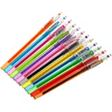 bhty235 1pc Gel Pen Set with Smooth Flow Detail Nib Diamond Gel Pen School Supplies Draw Colored Pens Student Candy Color Gifts, Random Color