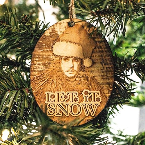 Ornament Let Snow Wood 4x3in product image