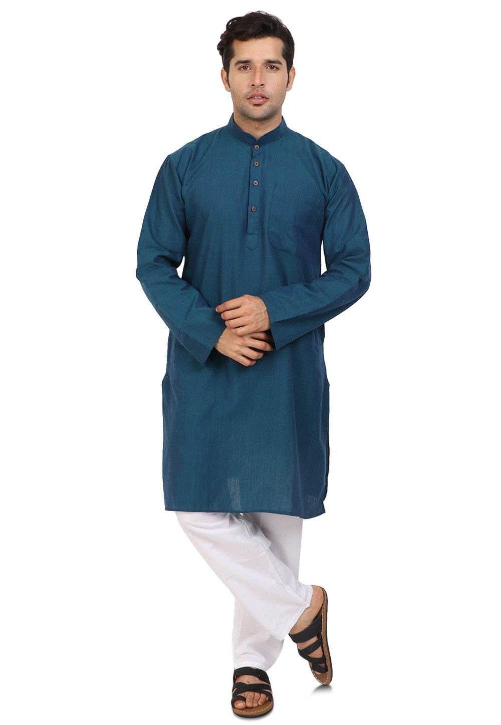 Cellora Men's Classic Kurta Pajama Ethnic Style Wedding Party Wear Cotton Kurta Pyjama