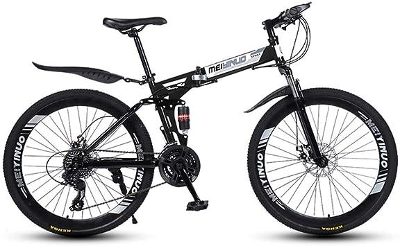 ZTYD - 26 pulgadas, 27 velocidades, bicicleta de montaña para adultos, aluminio ligero, suspensión frontal, horquilla de suspensión, freno de disco: Amazon.es: Deportes y aire libre