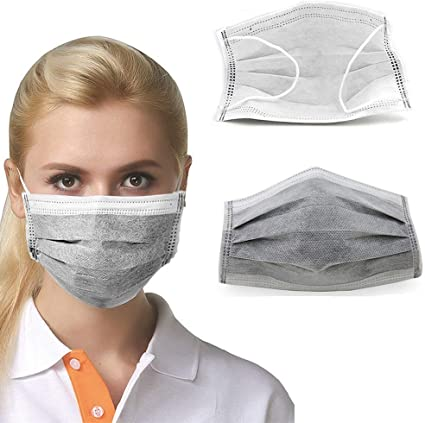 Mask Non Filter Mouth Layer Disposable Anti-haze 4 Gs Masks Anti-dust Medical 50pcs Woven Carbon Face Anti-formaldehyde Doctor Activated