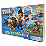 Paw Patrol 7 Puzzles in Wooden Storage Box (Styles Will Vary)
