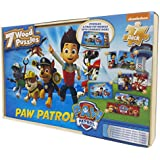 Paw Patrol 7 Wood Puzzles In Wooden Storage Box (styles will vary)