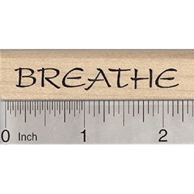 Breathe Rubber Stamp, for Yoga or Meditation: Sports & Outdoors