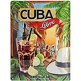 Nostalgic-Art 23182 Open Bar - Cuba Libre, Blechschild 30x40 cm