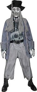 Disfraz de zombi con diseño gris M 48/50 disfraz Zombie Halloween ...