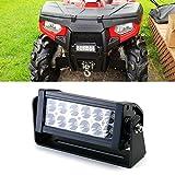 """iJDMTOY 8"""" 36W High Power LED Light Bar w/ Universal Handlebar, Front Grill or Hood Mounting Bracket For ATV UTV Dirt Bike, etc"""
