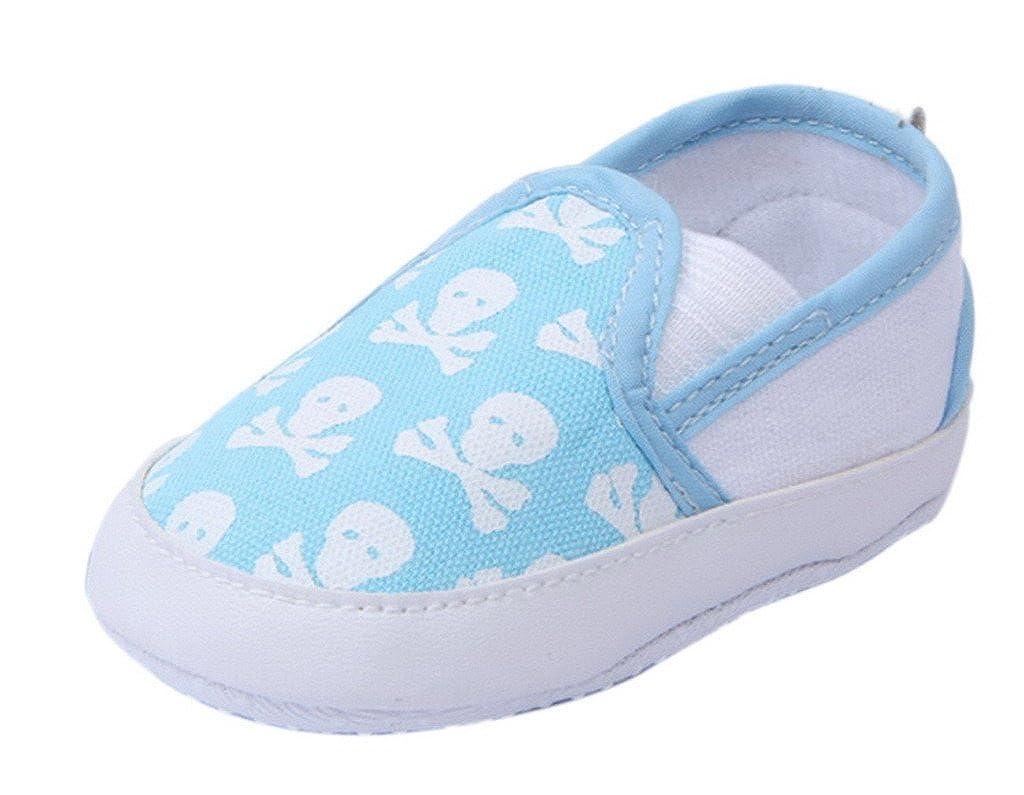 Bigood Chaussure Enfant Bébé Toile Chaussures Antidérapant Crâne Confortable