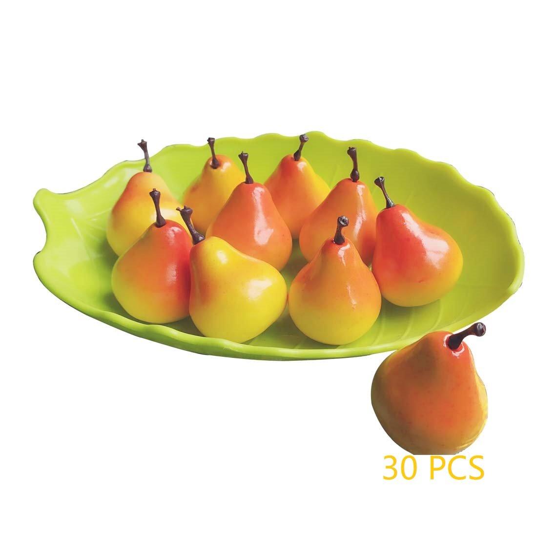 Lorigun 30pcs simulaci/ón Realista Artificial 1.3Mini Peras Frutas Falsas Accesorios de fotograf/ía Modelo