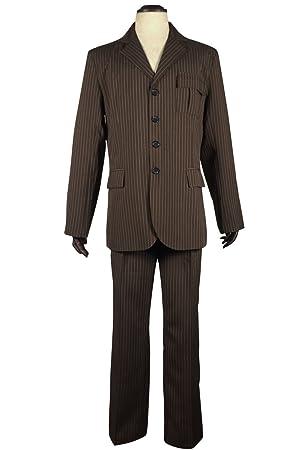 best service competitive price new arrival Pinlian Brown Pinstripe Suit blazer pants Halloween Cosplay ...