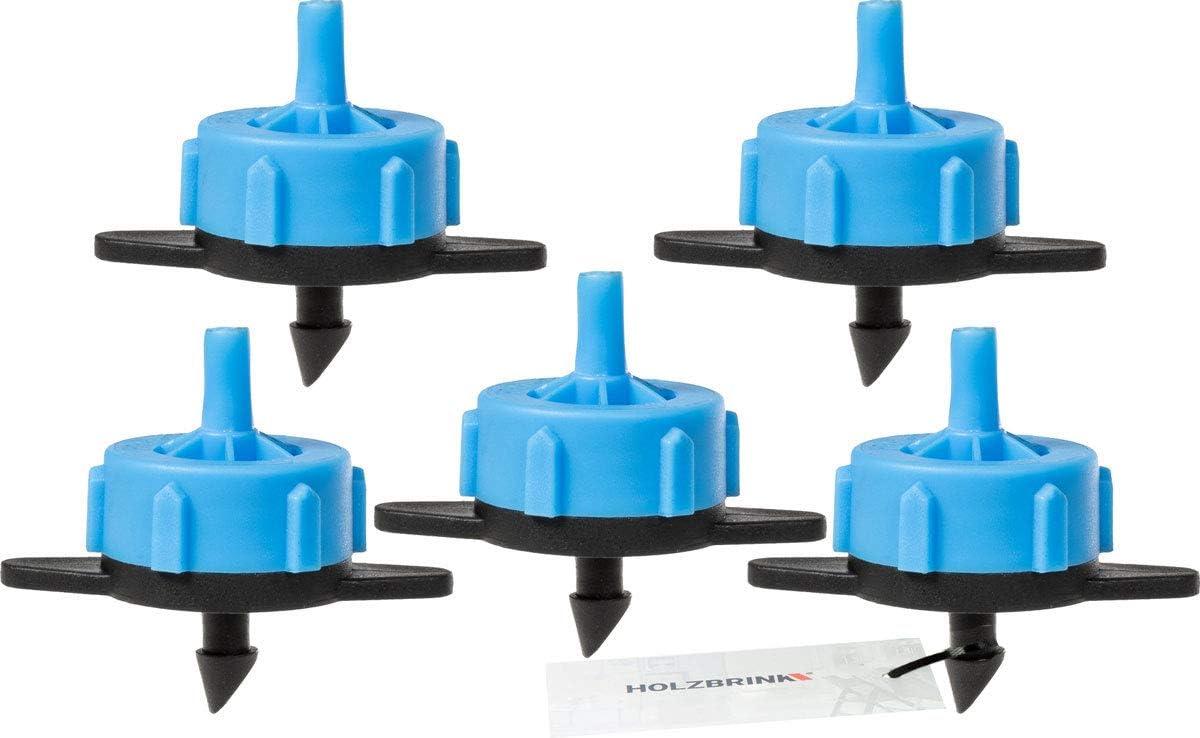 1 St/ück Betriebsdruck 0,5-3,5 bar Ausflussmenge 8l//h HOLZBRINK Druckregulierender Tropfer Blau