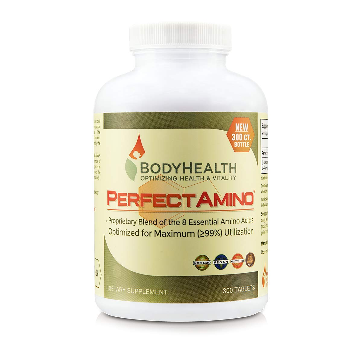 7a7b7c666e316 BodyHealth PerfectAmino (300 Tablets) 8 Essential Amino Acids Supplements  with BCAA