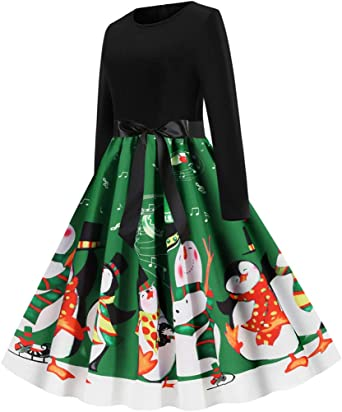 Kleider Weihnachtskleid Weihnachtspullover Weihnachtsdeko Cocktailkleid Pullover Sexy Kleidung Weihnachtsmann Party Swing Festlich Weihnachtsfünfzigerjahre Partei Abschlussball: Odzież