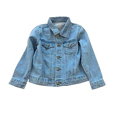 7a0aa37f3a73 Kinder Jeans Jacke Mädchen Jungen Mantel und Shorts Coole Jeansjacke mit  Regenbogen Dekor für Jogging Walking