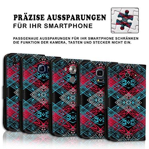 Wallet Book Style Flip Handy Tasche Case Schutz Hülle Schale Motiv Etui für Apple iPhone 6 / 6S - Design Flip MVD199