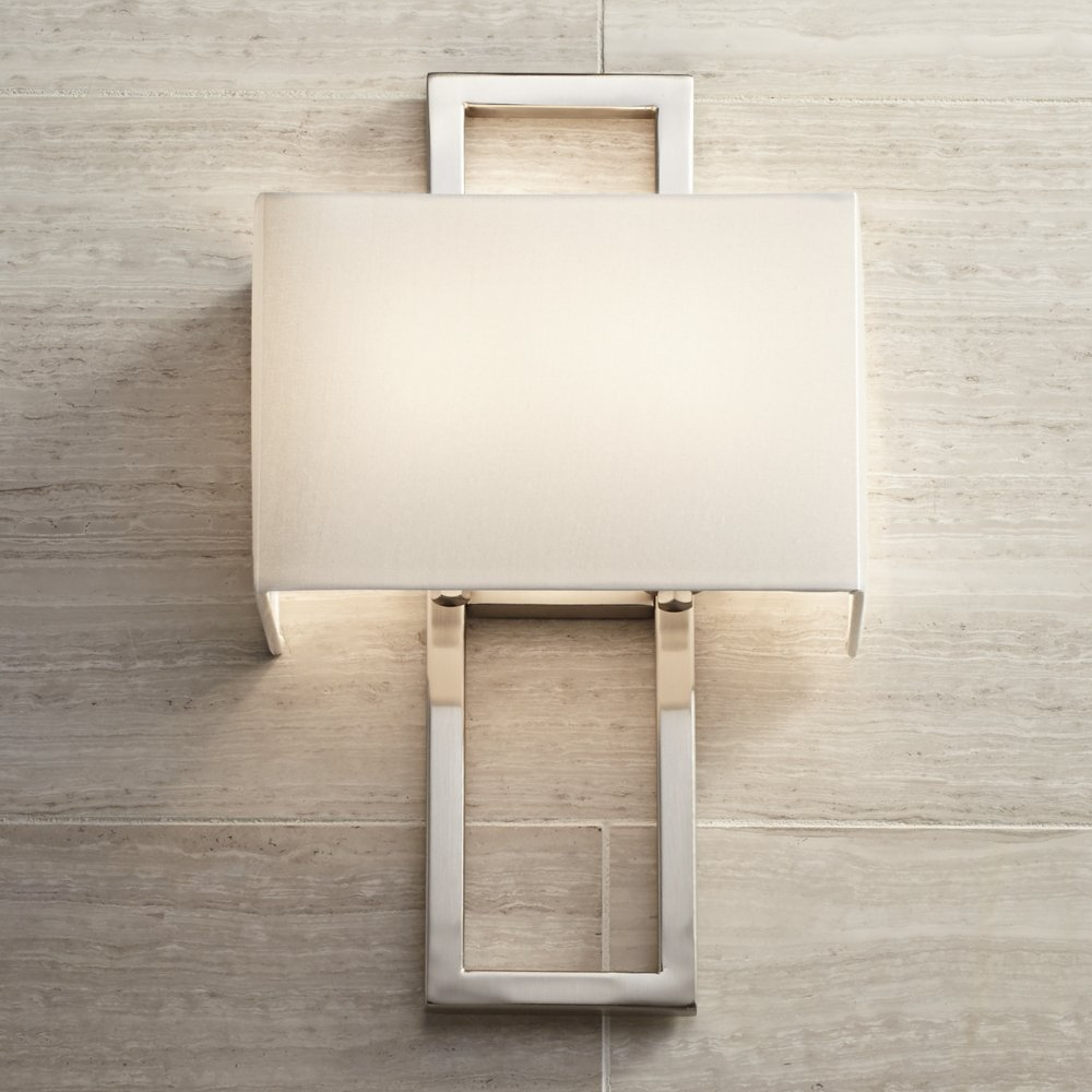Possini Euro Brushed Steel 15 1/2  H Rectangular Wall Sconce - - Amazon.com : possini wall sconce - www.canuckmediamonitor.org