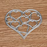 Iuhan Fashion Flower Heart Metal Cutting Dies Stencils DIY Scrapbooking Album Paper Card Craft (H)