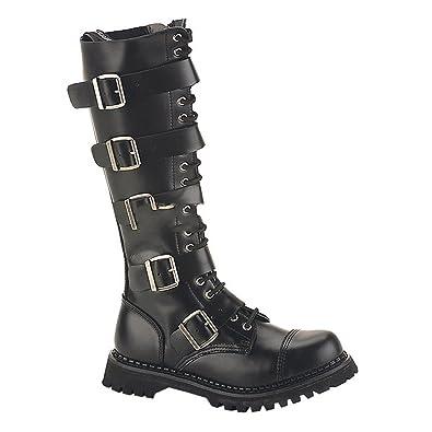Demonia Riot Punk 20 Gothic Industrial Ranger Stiefel wNOv8n0ymP