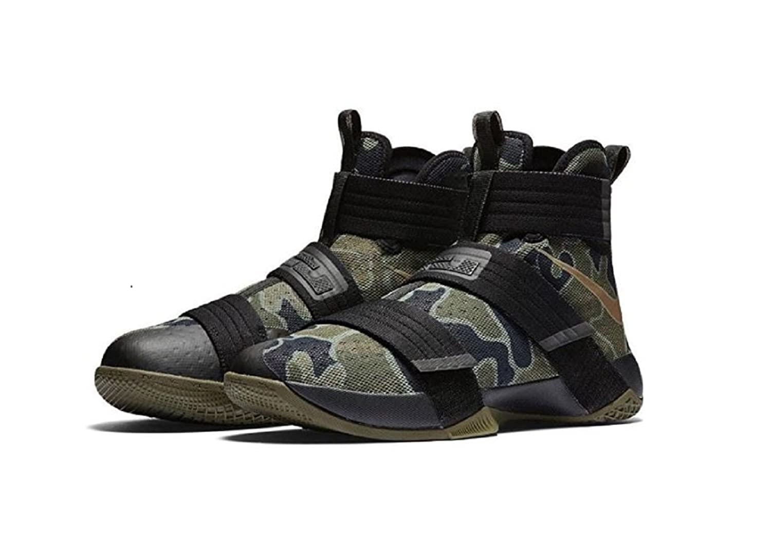 best deals on 33f48 956a6 Nike Lebron Soldier 10 X SFG Camo Mens Black Medium Olive Bamboo 844378-022  durable.