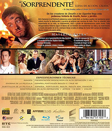Amazon.com: A PRUEBA DE FUEGO (FIREPROOF) [BLU-RAY] IMPORT.KIRK CAMERON,ERIN BETHEA.: Movies & TV