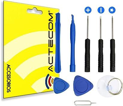 actecom® Kit Herramientas REPARACION MOVIL Consola Tablet 9 EN 1 PLASTICO Pack Smartphone Tool LCD Pantalla: Amazon.es: Electrónica