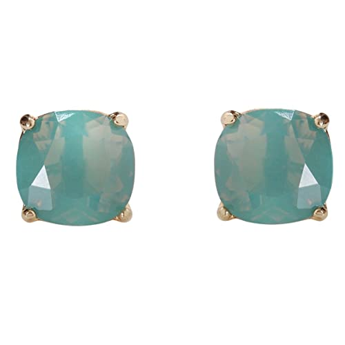 a3506a53f Humble Chic Faceted Square Stud Earrings - Large Cushion Cut Statement Post  Ear Studs .57""