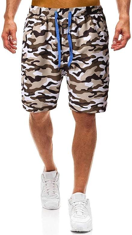 Pantalones Cortos Camuflaje Hombre Pantalón Cargo Verano ...