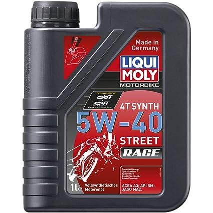 Liqui Moly 2592 - Aceite de motor, 4T Synth, 5W-40 Street Race ...