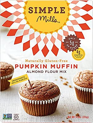 Simple Mills Almond Flour Mix Gluten Free Pumpkin Muffin -- 9 oz