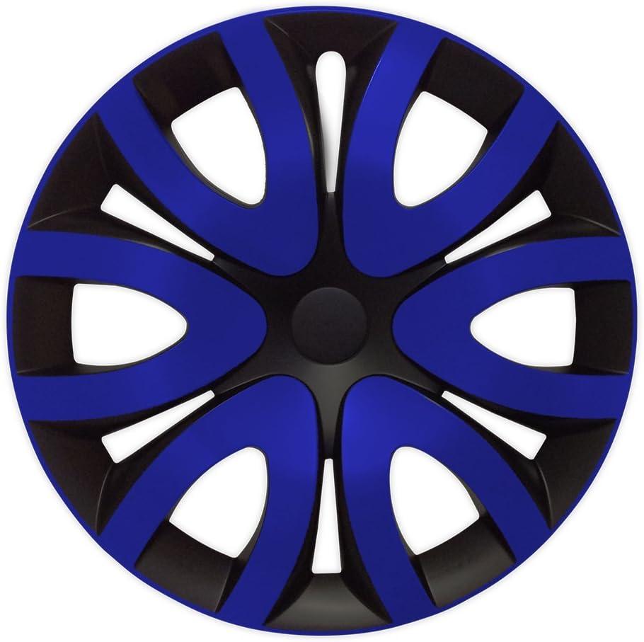 Eight Tec Handelsagentur Farbe Größe Wählbar 16 Zoll Radkappen Mika Blau Passend Für Fast Alle Gängigen Fahrzeuge Universal Auto