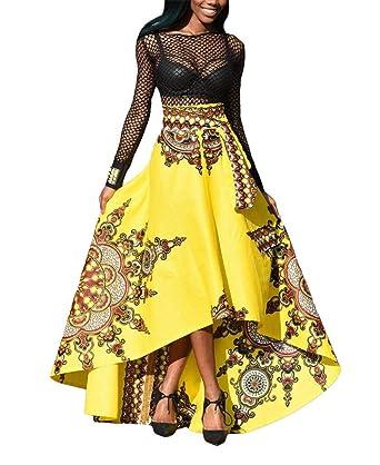 rencontrer vendu dans le monde entier choisir officiel YiyiLai Jupe Longue Femme Imprimé Florale Casual Soirée ...