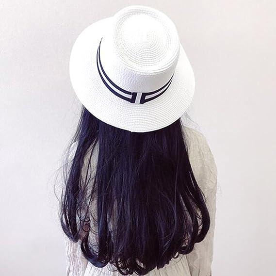 HONEY Cappelli Di Paglia Maschili E Femminili Paglia A Tesa Larga Bombetta  Cappello Estivo Cappello Panama ( Colore   Bianca )  Amazon.it  Giardino e  ... 39c2e21d8683