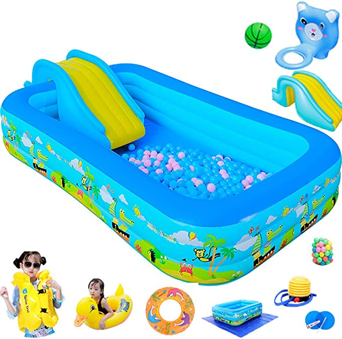 Giant Inflatable Pool Family And Childrens Inflatable Rectangular Pool 10x10x0.6 YUHAO uk