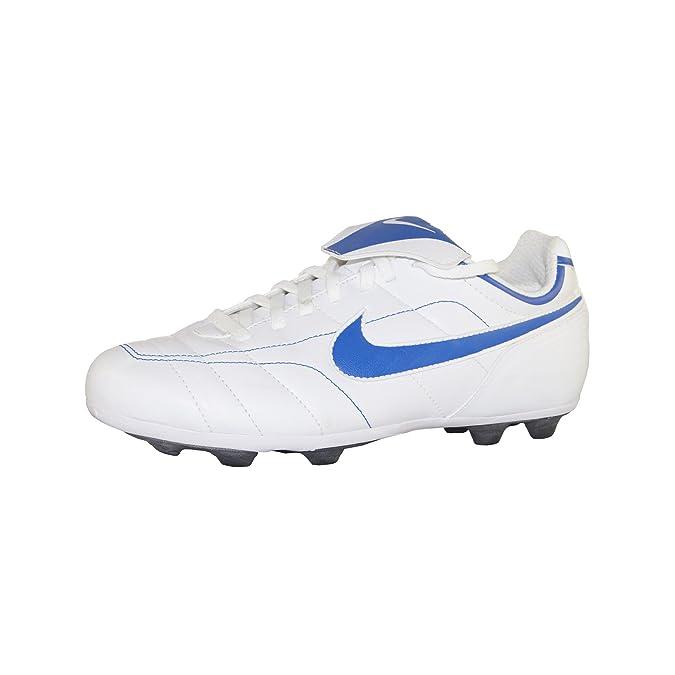 Nike Tiempo Natural VT Chaussures de Football, Couleur: Blanc/Bleu, Taille: 38  EU: Amazon.fr: Chaussures et Sacs